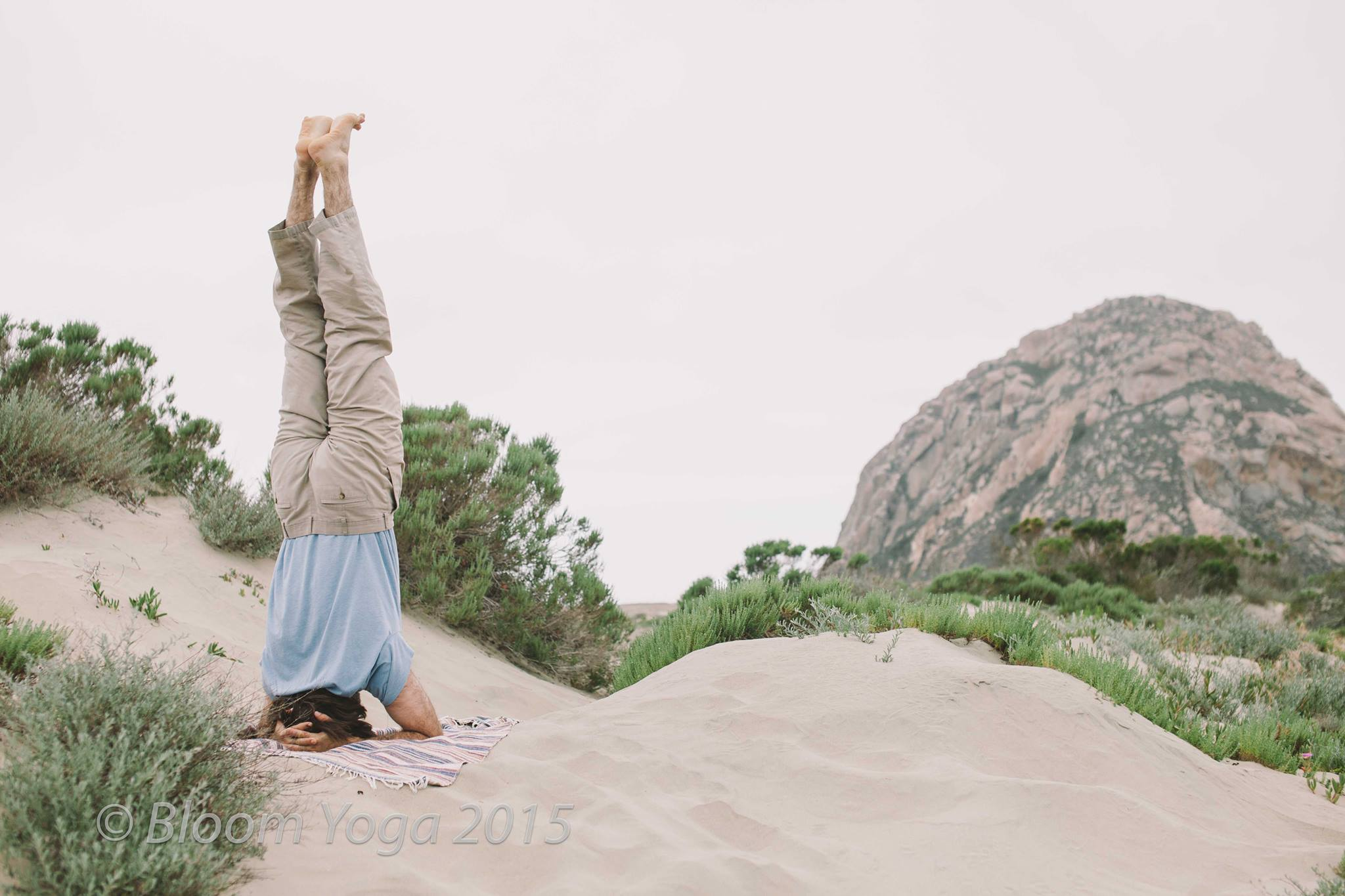 Headstand and Morro Rock